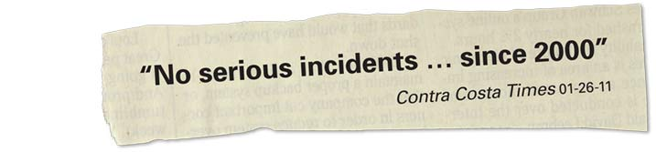 No serious incidents since